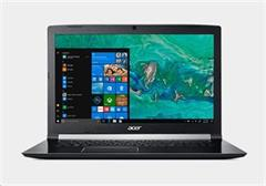 "Notebook Acer Aspire 7, 17,3"" IPS, Intel i5-8300H, 8GB, 256+1TB, GTX 1050 4GB, W10 Home, černý"