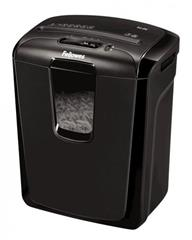 Skartovač Fellowes M8 C, P-3, Cross cut 4×37 mm, 8 listů, 15 l, Credit Card, Sponky