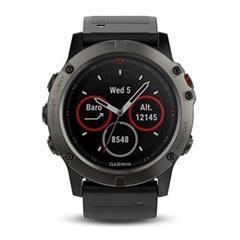 Hodinky Garmin fenix5X Sapphire Gray Optic, Black band