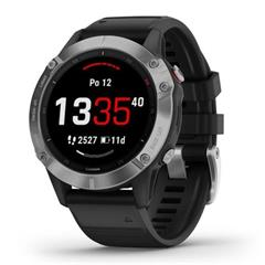 Hodinky Garmin fenix6 Glass Silver/Black Band