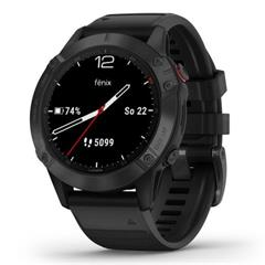 Hodinky Garmin fenix6 Glass Black/Black Band (MAP/Music)