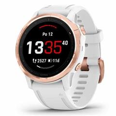 Hodinky Garmin fenix6S Glass RoseGold/White Band (MAP/Music)