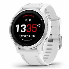 Hodinky Garmin fenix6S Glass Silver/White Band