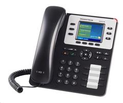 Telefon Grandstream GXP-2130 IP-Telefon, TFT bar. displej, 3x SIP, 2x 10/100/1000port, PoE, Hd zvuk