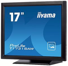 "Dotykový monitor IIYAMA ProLite T1731SAW-B5, 17"" LED, SAW, 5ms, 230cd/m2, USB, VGA/HDMI/DP, černý"