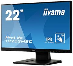"Dotykový monitor IIYAMA ProLite T2252MSC-B1, 21,5"" IPS LED, PCAP, 7ms, 250cd/m2, USB, VGA/HDMI/DP, černý"