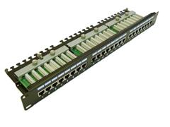 Patch panel LEXI-Net FTP cat.5e 24p. 1U Black