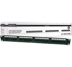 Patch panel UTP cat.6 24p. 1U,Black