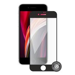 Tvrzené sklo Screenshield iPhone SE (2020) Tempered Glass protection full COVER black